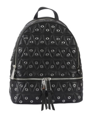 Michael Kors: backpacks - Rhea eyelet black backpack