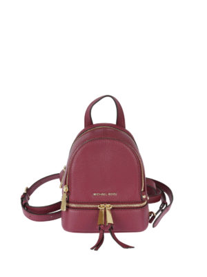 Michael Kors: backpacks - Rhea mulberry leather backpack