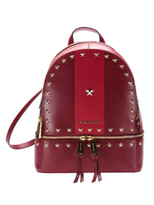 Michael Kors: backpacks - Rhea red backpack