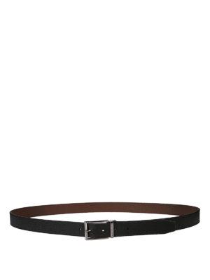 Michael Kors: belts - Logo detailed buckle leather belt