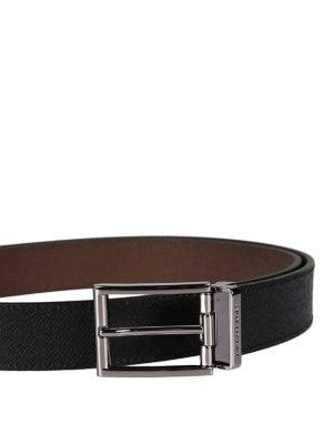 Michael Kors: belts online - Logo detailed buckle leather belt