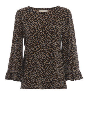 MICHAEL KORS: bluse - Blusa in jersey opaco stampa animalier