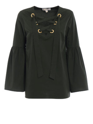 Michael Kors: blouses - Bell sleeved cotton blouse