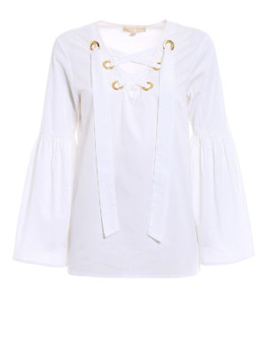 Michael Kors: blouses - Bell sleeved white blouse