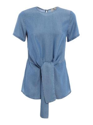 Michael Kors: blouses - Bow detail chambray blouse