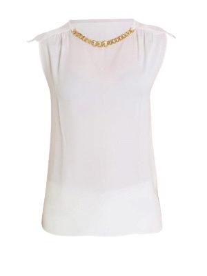 Michael Kors: blouses - Chain detailed silk blouse