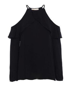 Michael Kors: blouses - Crepe flounce blouse