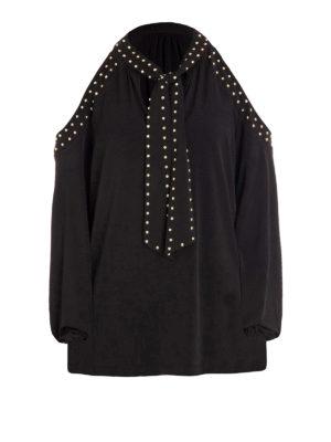 Michael Kors: blouses - Cut out shoulders studded blouse