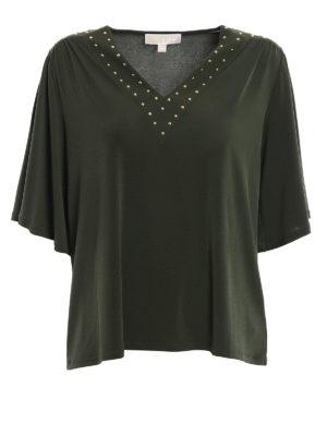 Michael Kors: blouses - Embellished jersey blouse