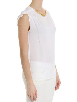 Michael Kors: blouses online - Chain detailed silk blouse