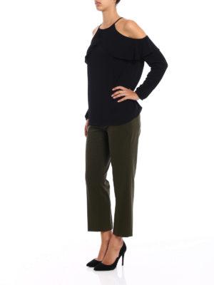 Michael Kors: blouses online - Crepe flounce blouse