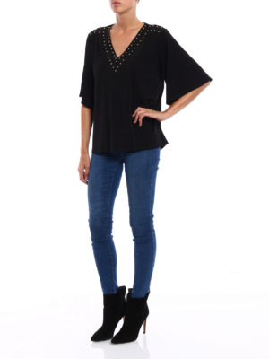 Michael Kors: blouses online - Embellished jersey blouse