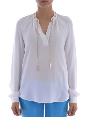 Michael Kors: blouses online - Metal chain silk blouse