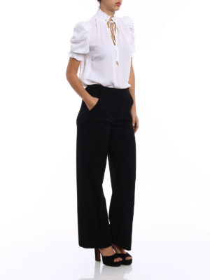 Michael Kors: blouses online - Puff sleeved silk blouse
