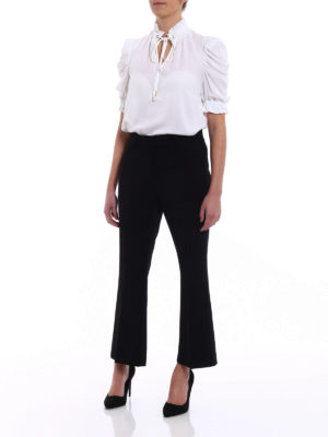 Michael Kors: blouses online - Puff sleeved silk blouse