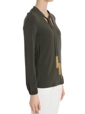 Michael Kors: blouses online - Self-tie collar detail blouse