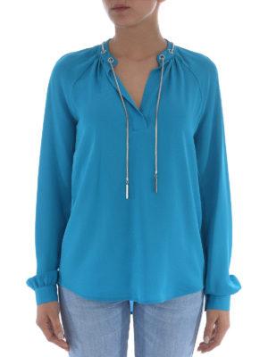 Michael Kors: blouses online - Silk eyelet blouse