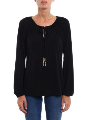 Michael Kors: blouses online - Soft jersey gathered blouse