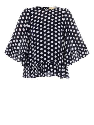 MICHAEL KORS: bluse - Blusa a pois con balze