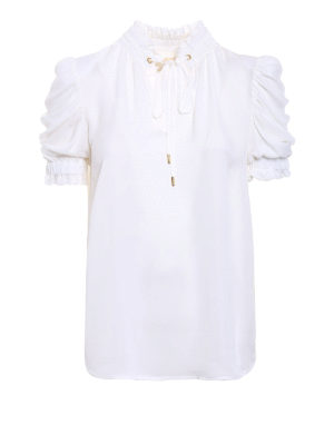 Michael Kors: blouses - Puff sleeved silk blouse