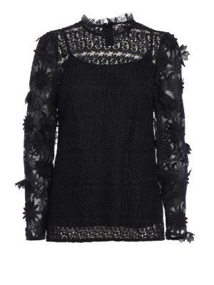 Michael Kors: blouses - See-through lace black blouse