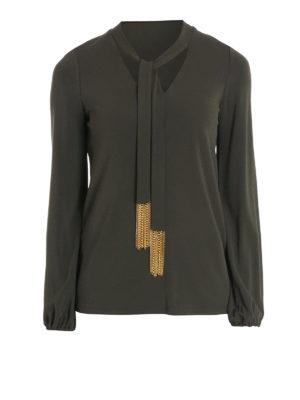 Michael Kors: blouses - Self-tie collar detail blouse