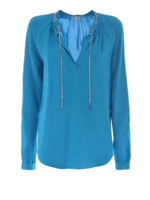 Michael Kors: blouses - Silk eyelet blouse