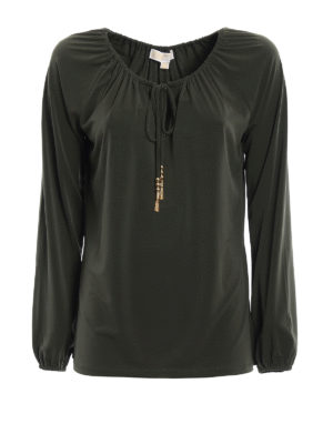 Michael Kors: blouses - Soft jersey gathered blouse