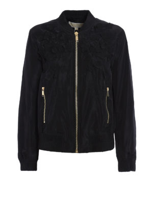 Michael Kors: bombers - Bomber with flower appliques