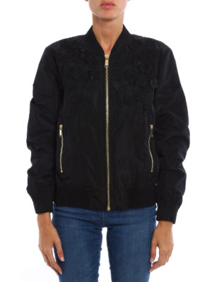 Michael Kors: bombers online - Bomber with flower appliques