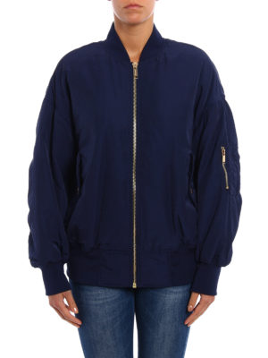 Michael Kors: bombers online - Semiglossy technical fabric bomber