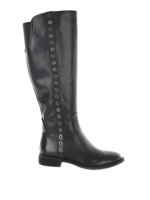 Michael Kors: boots - EYELETS DETAILED LEATHER BOOTS