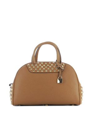 Michael Kors: bowling bags - Austin leather medium bowling bag