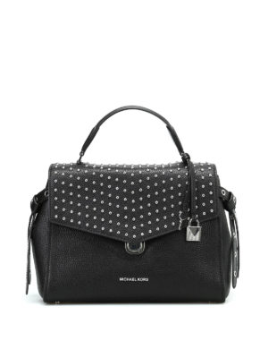 Michael Kors: bowling bags - Bristol medium studded satchel bag
