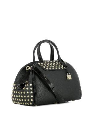 Michael Kors: bowling bags online - Austin black leather bowling bag