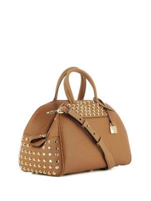 Michael Kors: bowling bags online - Austin leather medium bowling bag