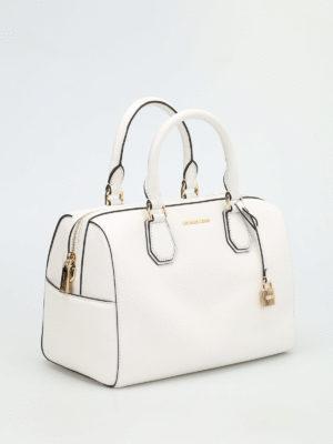 Michael Kors: bowling bags online - Mercer medium leather duffle