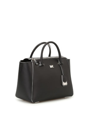 Michael Kors: bowling bags online - Nolita contrasting piping bag