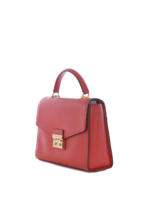 Michael Kors: bowling bags online - Sloane Large red leather handbag