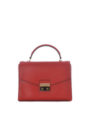 Michael Kors: bowling bags - Sloane Large red leather handbag