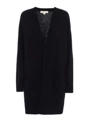Michael Kors: cardigans - Cashmere blend long open cardigan
