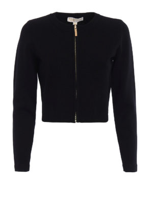Michael Kors: cardigans - Crop zipped cardigan