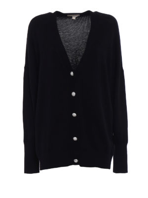 Michael Kors: cardigans - Jewel button oversized cardigan