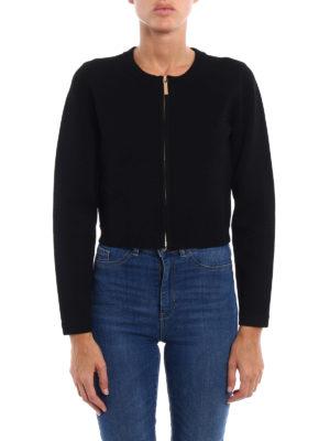 Michael Kors: cardigans online - Crop zipped cardigan