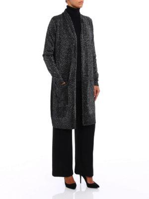 Michael Kors: cardigans online - Metallic long cardigan