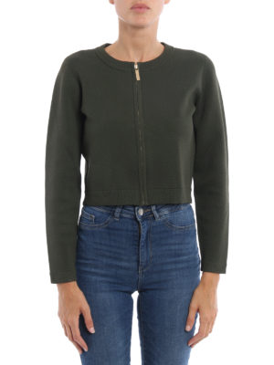 Michael Kors: cardigans online - Viscose blend zipped crop cardigan