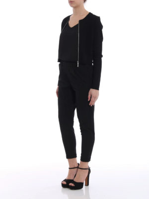 Michael Kors: cardigans online - Zipped crop cardigan