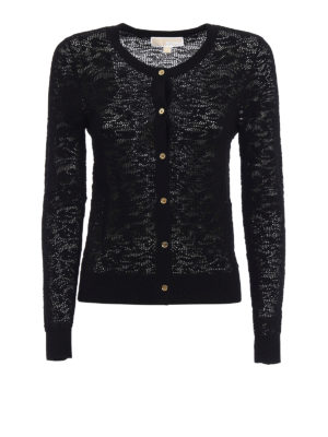 Michael Kors: cardigans - See through crew neck cardigan