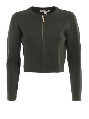 Michael Kors: cardigans - Viscose blend zipped crop cardigan