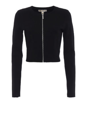 Michael Kors: cardigans - Zipped crop cardigan